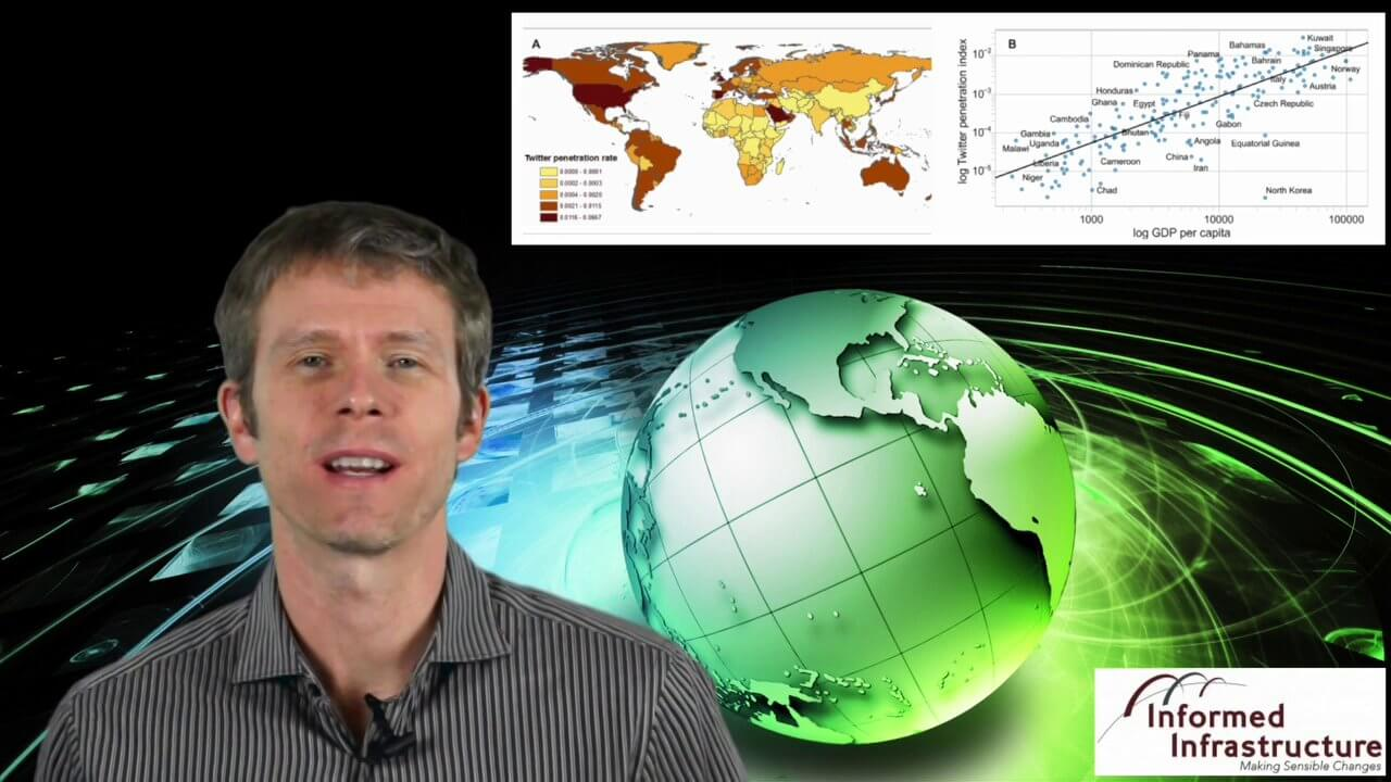 GeoSpatial Stream 11_18 (protected areas, geolocated tweets, infrastructure investment and more)