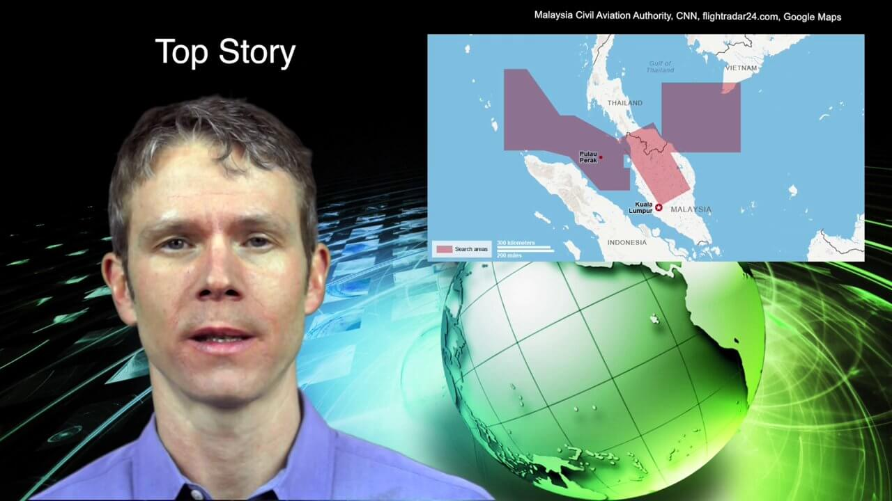"3_18 Asia-Pacific Broadcast (Malaysia Flight 370, ""Smog-Busting Drones,"" Shark Cameras and More)"