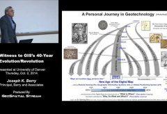 "Joe Berry's ""Eye-Witness to GIS's 40-Year Evolution/Revolution"" Presentation"