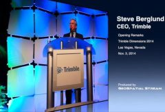 CEO Berglund Opens Trimble Dimensions 2014